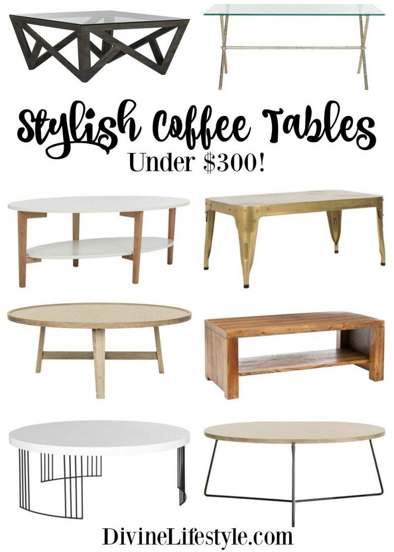 Stylish Coffee Tables Under $300