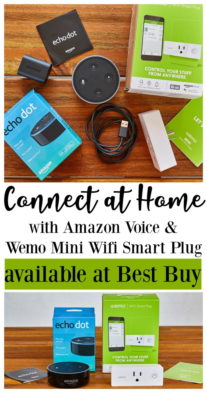 Connect at Home with Amazon Voice andWemo Mini Wifi Smart Plug