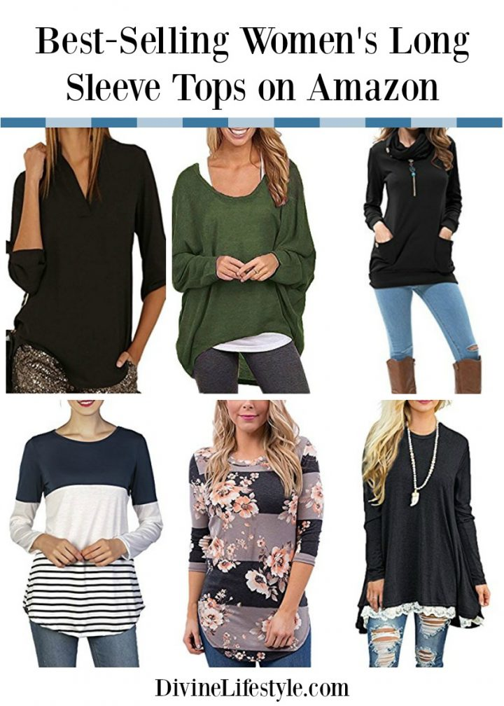 Best-Selling Women's Long Sleeve Tops on Amazon