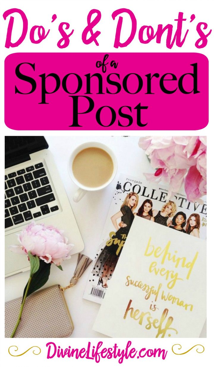 Dos and Donts of a Blogging Sponsored Post