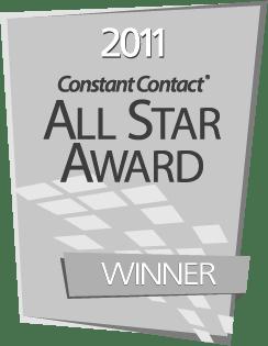 Constant Contact 2011 All Star Award Winner