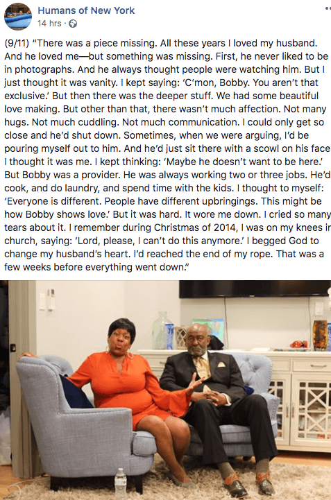 True love or trauma bond. Humans of New York- Bobby Love