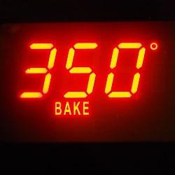dedicated gluten free oven preheated