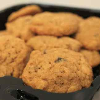 fresh baked gluten free oatmeal cookie