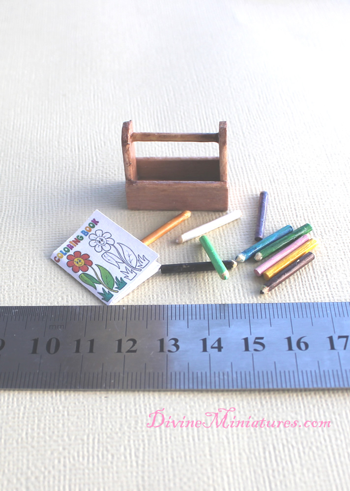 Dollhouse Miniature Coloring Book for Boys 1:12 Scale