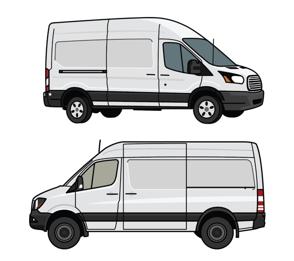 Purchase Used 2011 Ford Transit Connect Xlt Cargo Van With: Ford Transit Vs. Sprinter