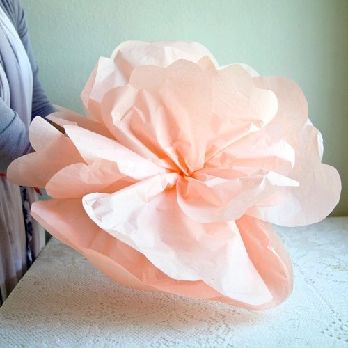 Diy huge paper flowers diydrysite how to make oversized paper flowers choice image flower decoration mightylinksfo