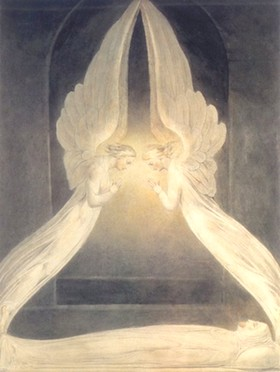 Le Christ au sépulcre gardé par deux anges - William Blake