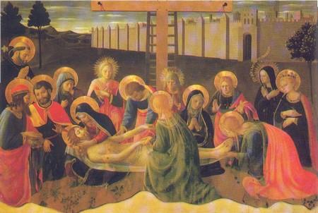 Pieta et déploration sur le corps du Christ - Fra Angelico