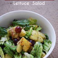 Roasted Potato Lettuce Salad