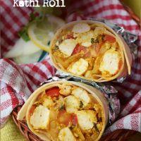 'Tandoori Tofu' gravy stuffed Kathi Rolls
