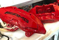 red amg caliper. divinesplash.com car spray sg