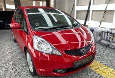 Honda Jazz red color car spray. divinesplash.com car spray sg. car spray painting. ge6 red. divine splash car spray singapore