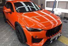 divinesplash orange mazda orange cx-3 car spray singapore divinesplash.com divine splash spray painting car spray orange