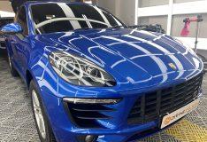 porsche macan car spray painting singapore divinesplash.com best car spray singapore. alphine blue porsche macan