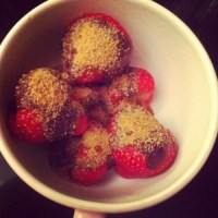 Vegan chocolade aardbeien