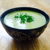 Lekkere, gezonde aardappel-preisoep (glutenvrij, vegan, suikervrij)