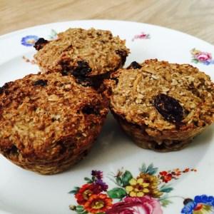suikervrije-havermout-ontbijtmuffins