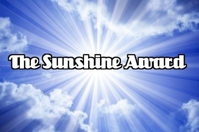 The Sunshine Award blue