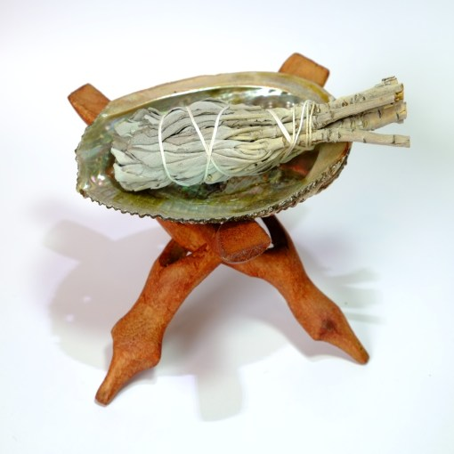 Sage bundle with holder and stand