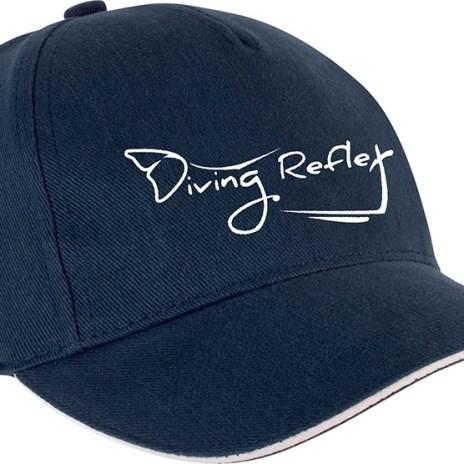 Casquettes pour femmes ou hommes avec le logo Diving Reflex