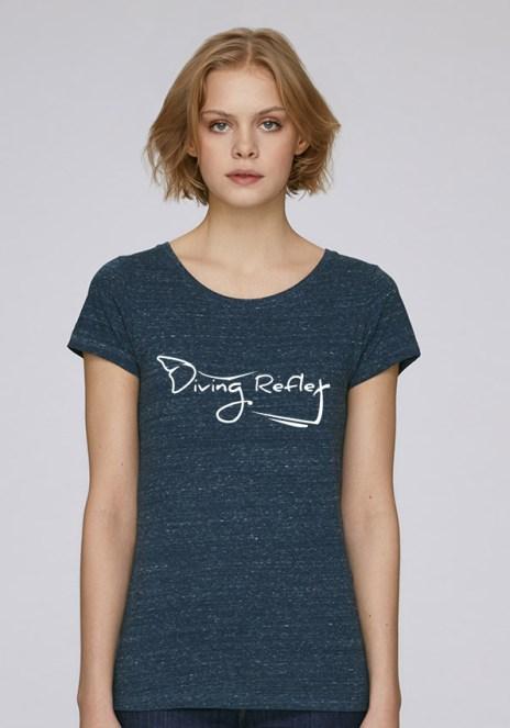 Tee-shirt heather denim pour femmes avec le logo Diving Reflex