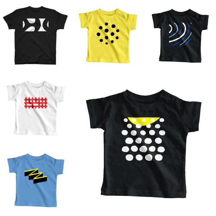 幼魚の魚柄ダイビングTシャツ(キッズサイズ)