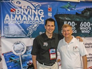 With Who's Who Pascal Lecocq at the Scuba Show in Long Beach, California, 2009. Photo © Diving Almanac