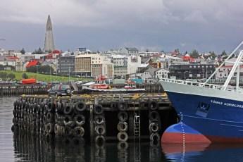 A view of Reykjavík and Hallgrímskirkja Church from the port. Photo © Jeffrey Gallant | Diving Almanac