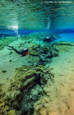 Approaching the Lagoon, at Silfra. Photo © Jeffrey Gallant | Diving Almanac