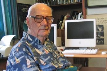 Arthur C. Clarke in Colombo, Sri Lanka, in 2005 (Public Domain)
