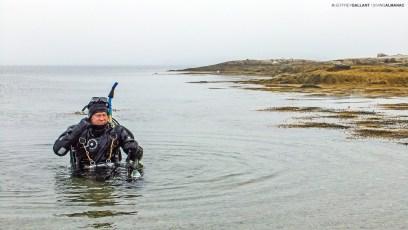 Dr. Chris Harvey-Clark after a dive at Paddy's Head, Nova Scotia. Photo © Jeffrey Gallant | Diving Almanac