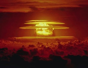 The Castle Bravo event (15 Mt) on March 1, 1954, was the most powerful thermonuclear device ever tested in the atmosphere by the United States. Photo by USAF (Public Domain)