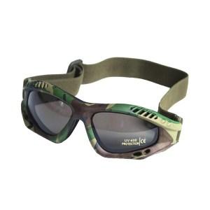 Ochelari protecție Mil-Tec Commando Smoke, woodland