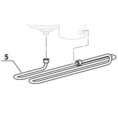 Țeavă tip serpentină, pentru compresor Coltri MCH 6