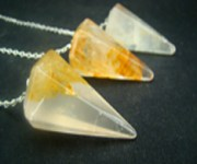 Golden Healer Quartz Pendulum