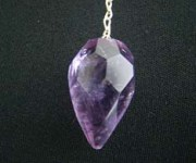 Amethyst Faceted Tear Drop Pendulum