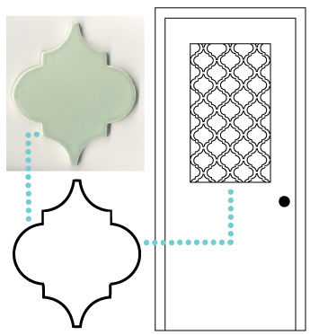 decorar una puerta con vinilo efecto acido