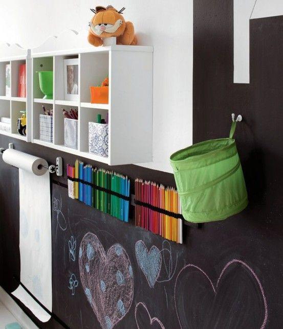 decorar con vinilo pizarra una habitación infantil