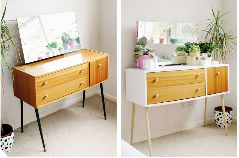 Forrar con vinilo un mueble de melamina antes y despu s - Pintura para muebles de melamina ...