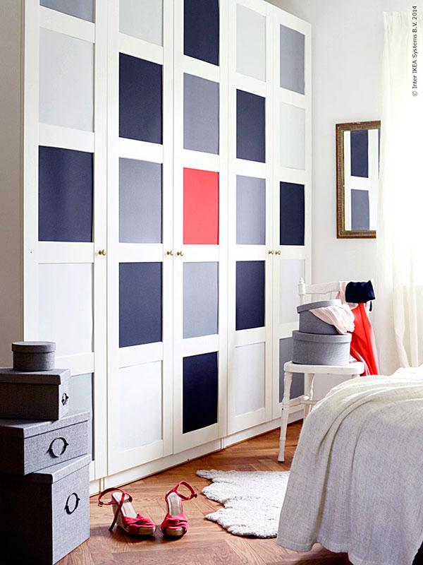 puertas de armario forradas con vinilo de colores