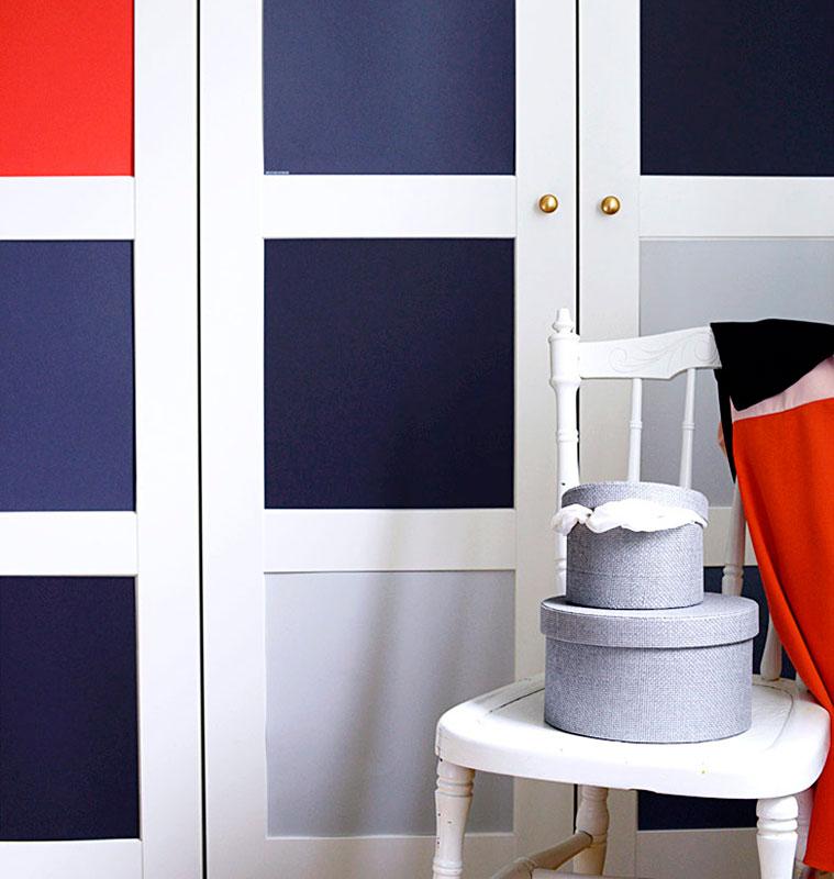 5 ideas para forrar con vinilo las puertas de tus armarios - Vinilos para muebles ikea ...