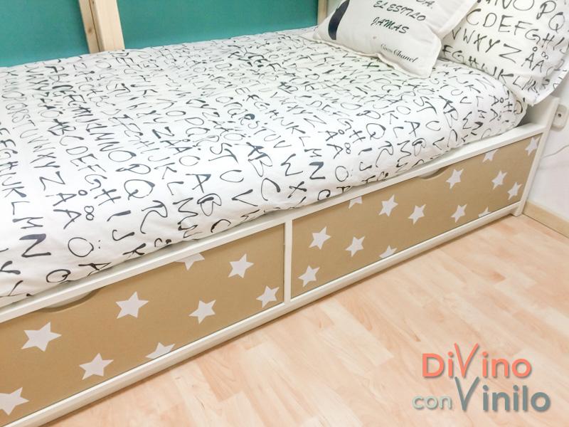estrellas para forrar muebles con vinilo adhesivo