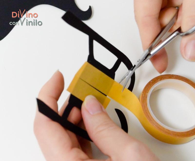 cómo hacer una pizarra con trineo forrada con vinilo pizarra