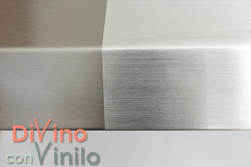 vinilo efecto acero inoxidable vs acero inoxidable