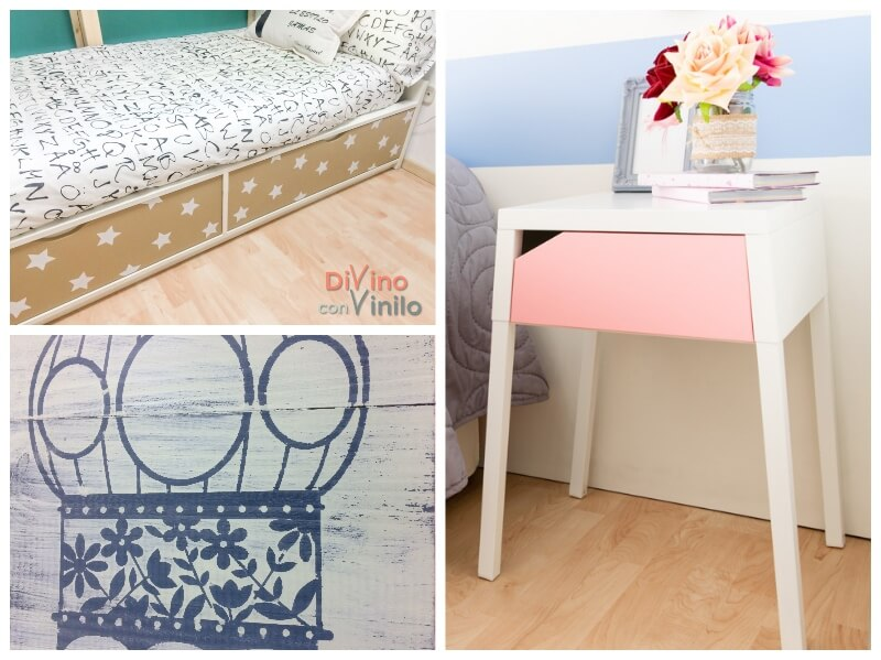 decorar muebles con plantillas de vinilo