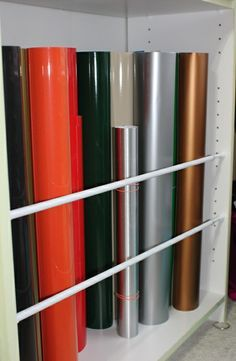 organizar vinilos en el interior de un armario