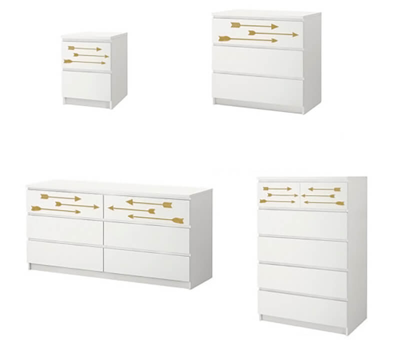 decorar con vinilo mueble de Ikea