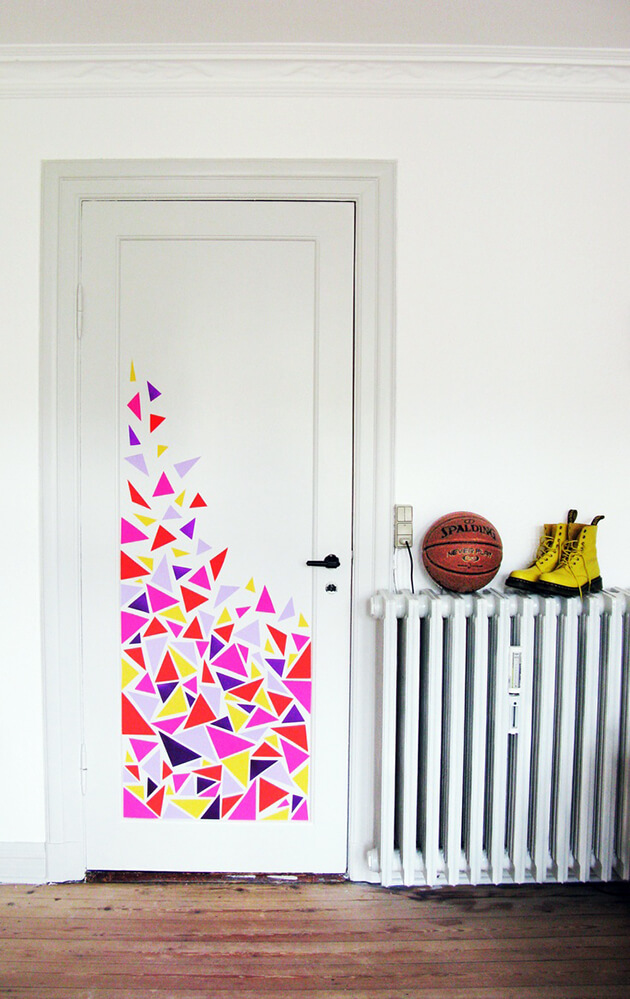 decorar puertas con vinilo adhesivo