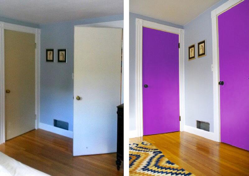 renovar las puertas con vinilo ultra violet